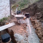 Installatino of drains and septic tank