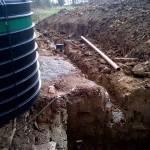 Installation of septic tank